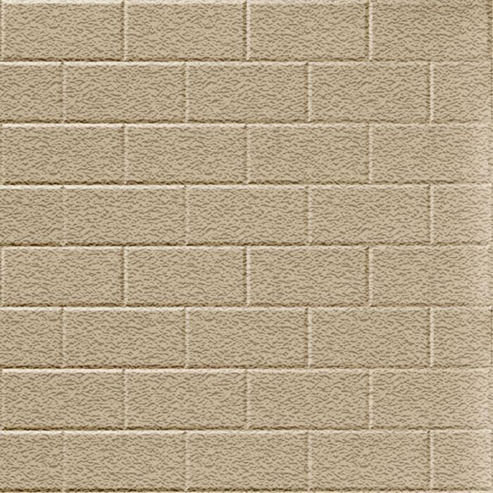 10' Wide x 4' Long Subway Tile Pattern Eccoflex Tan Finish Thermoplastic Flexlam Wall Panel