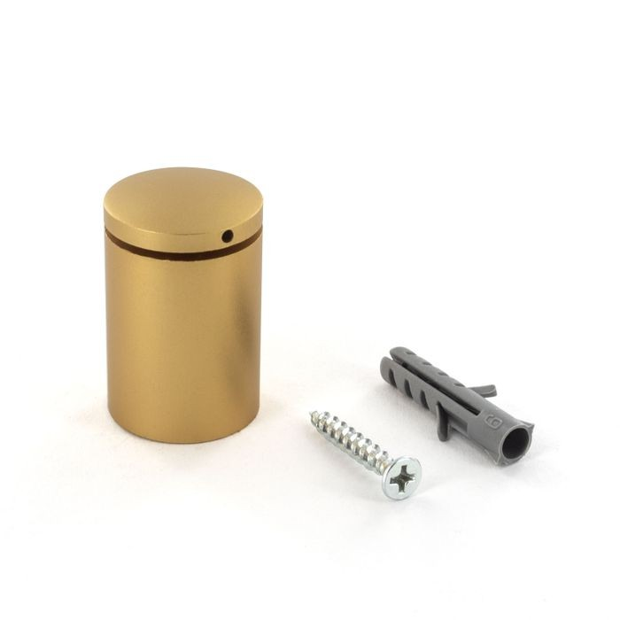 "1"" Diameter x 1-3/16"" Barrel Length Gold Finish Counter Series Secure Fasten Standoff"