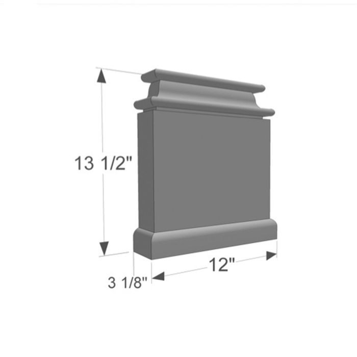 "13-1/2"" High x 3-1/8"" Deep x 12"" Wide European Series Acrocore EPS Pilaster"
