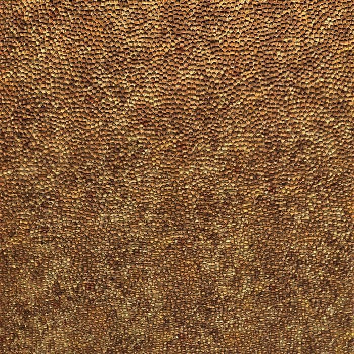 10' Wide x 4' Long Hammered Pattern Bronze Fantasy Finish Thermoplastic Flexlam Wall Panel