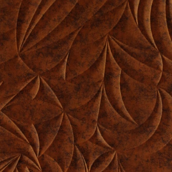 FlexLam 3D Wall Panel | 4ft W x 10ft H | Sculpted Petals Pattern | Moonstone Copper Finish