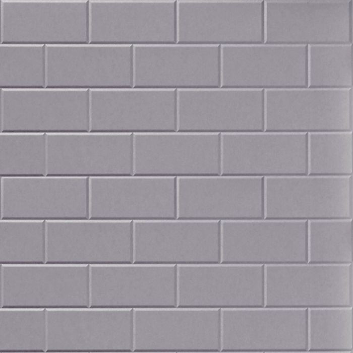 10' Wide x 4' Long Subway Tile Pattern Lavender Finish Thermoplastic Flexlam Wall Panel