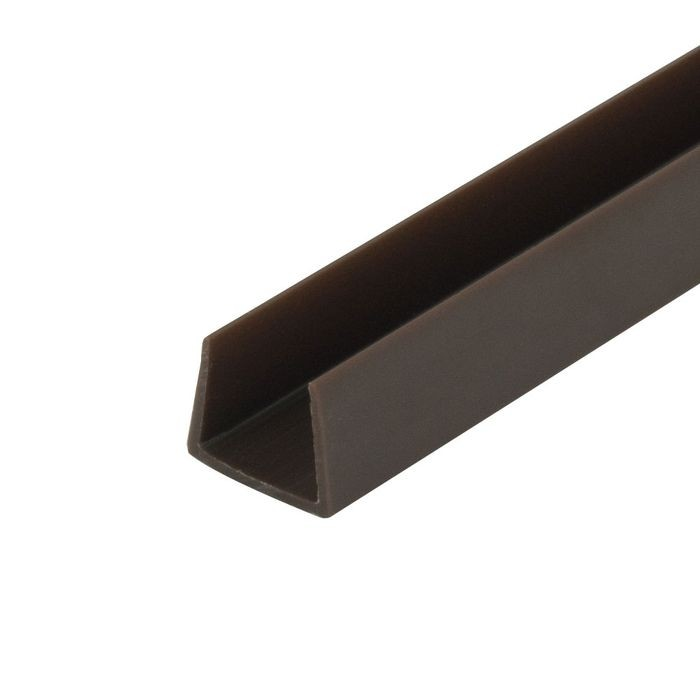 1/2in | Brown Rigid Styrene | U Channel Moulding | 12ft Length