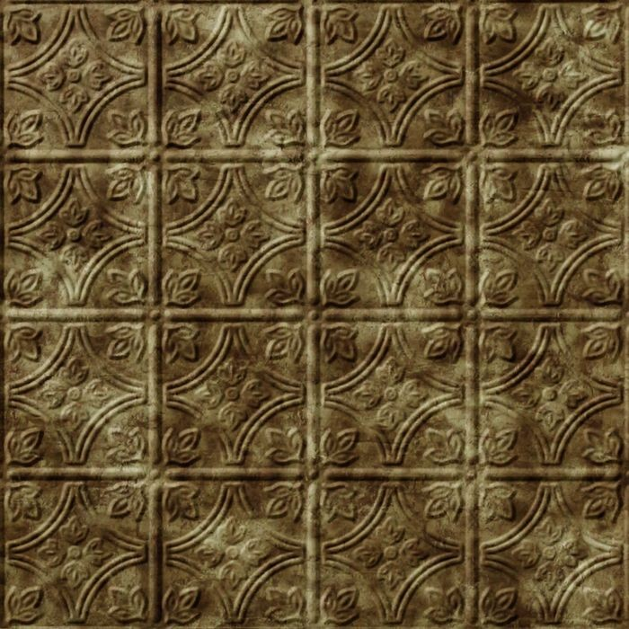 FlexLam 3D Wall Panel | 4ft W x 10ft H | Savannah Pattern | Bermuda Bronze Finish