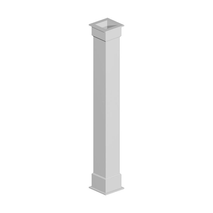 "10"" Shaft x 8-1/2"" Inside Width x 96"" Long Plain Non Tapered Column Wrap"