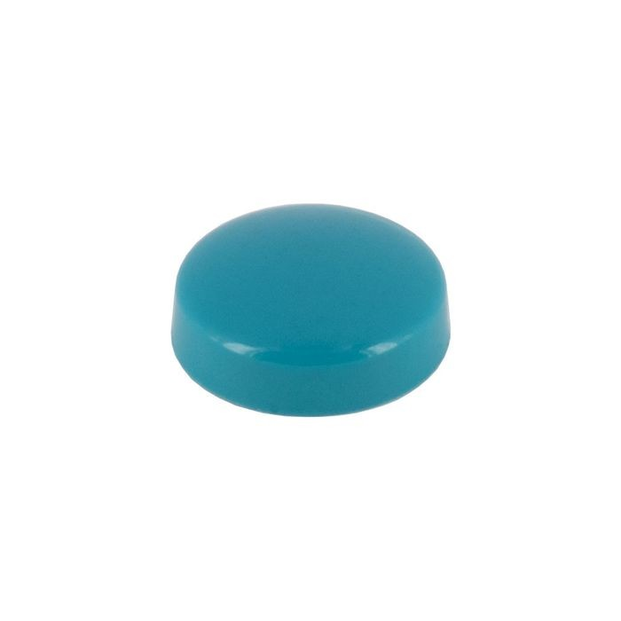 ".515"" Diameter Turquoise Polypropylene Pop-On Scew Cover"
