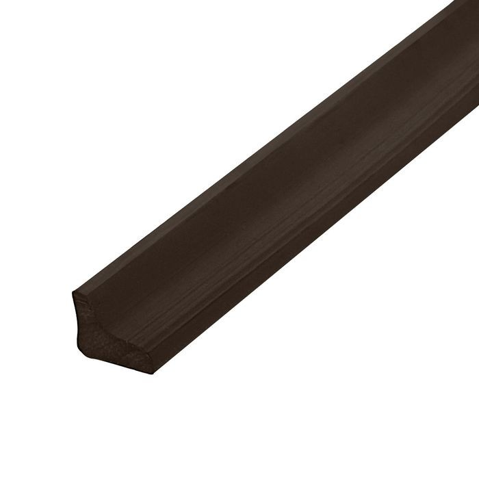 "1/4"" x 5/16"" Brown Semi Gloss PVC Staple Type Panel and Glass Retainer 100' Coil"