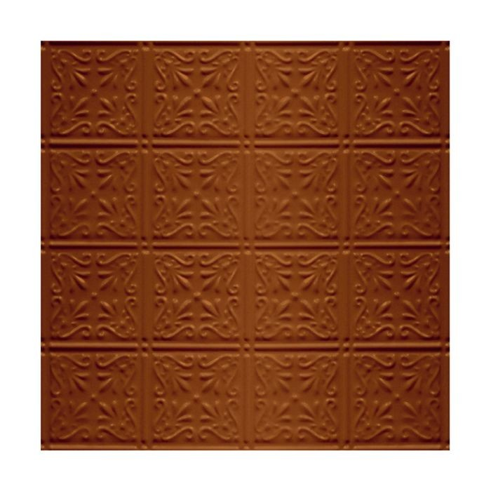 Tin Plated Stamped Steel Ceiling Tile | Nail Up/Glue Up Ceiling Tile | 2ft Sq | Saddle Finish