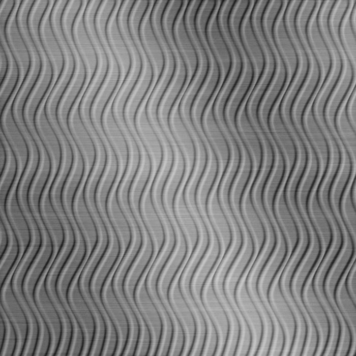 FlexLam 3D Wall Panel | 4ft W x 10ft H | Wavation Pattern | Brushed Stainless Vertical Finish