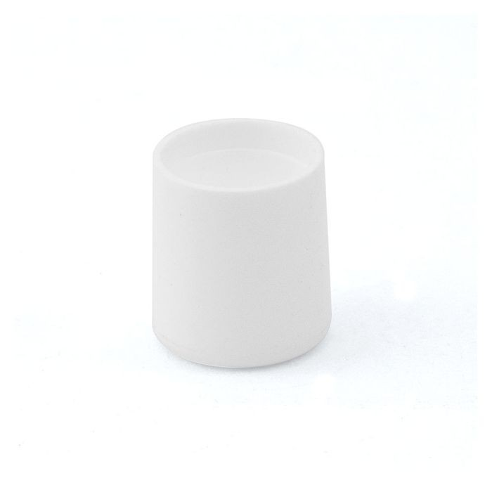 1/2in Dia | White Low Density Polyethylene | Outside End Cap for Tubing and Iron Pipe