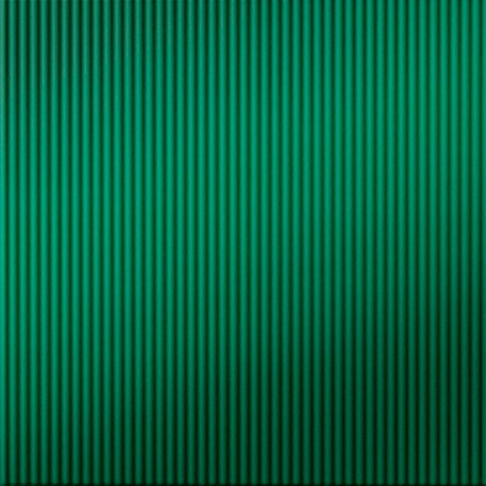 10' Wide x 4' Long Rib1 Pattern Mirror Green Finish Thermoplastic FlexLam Wall Panel