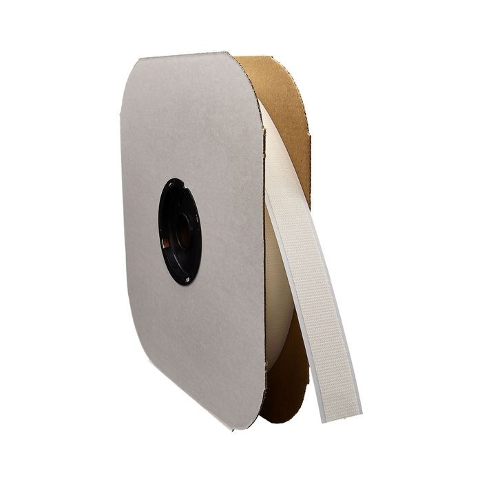 "1-1/2"" White Sew Quality Hook Fastening Tape 150' Length"