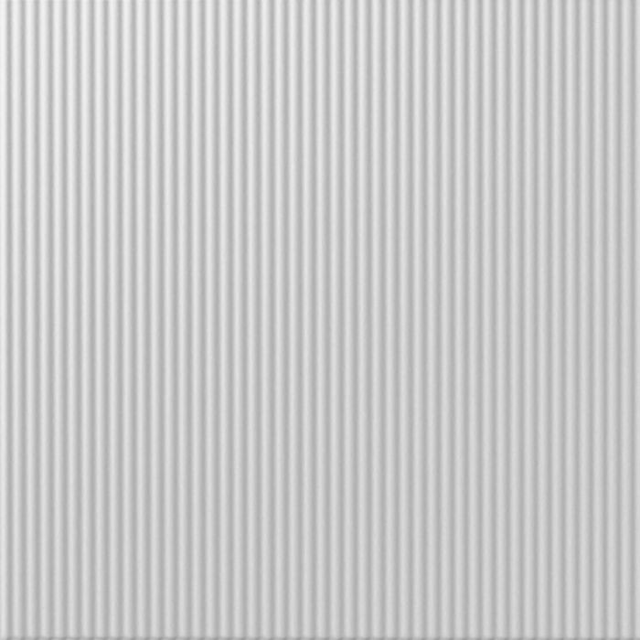 10' Wide x 4' Long Rib1 Pattern White Finish Thermoplastic FlexLam Wall Panel