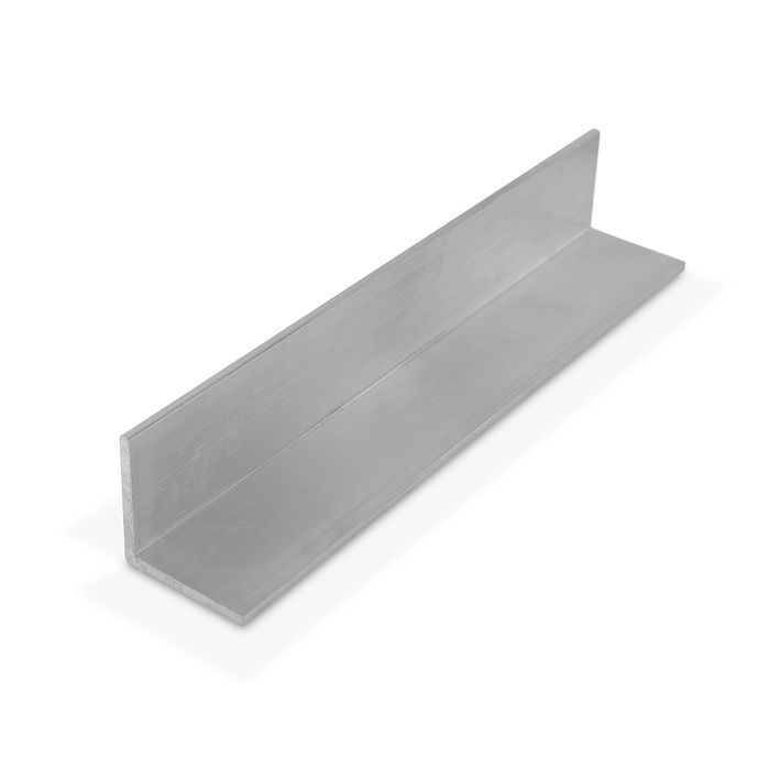 1-1/2in x 1-1/2in x 1/8in Thick | Mill Finish Aluminum Even Leg | 90° Angle Moulding | 12ft Length