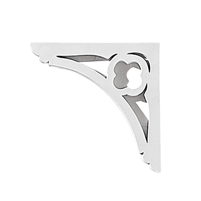 "11"" Wide x 8-11/16"" High Primed White Stair Bracket"