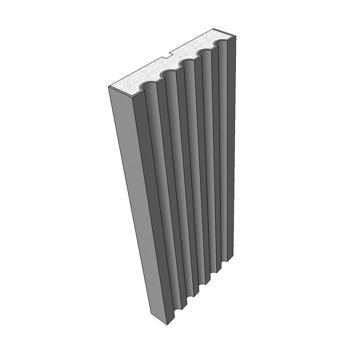 "10"" High x 2"" Deep European Series Acrocore EPS Pilaster Profile 8' Length"