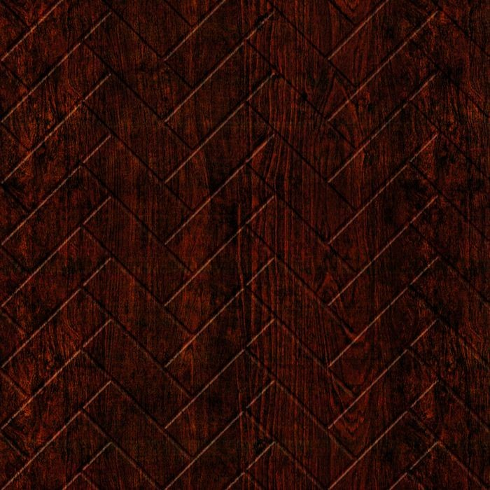 10' Wide x 4' Long Herringbone Pattern African Cherry Finish Thermoplastic Flexlam Wall Panel