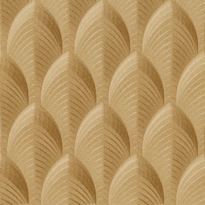 10' Wide x 4' Long South Beach Pattern Argent Gold Finish Thermoplastic Flexlam Wall Panel