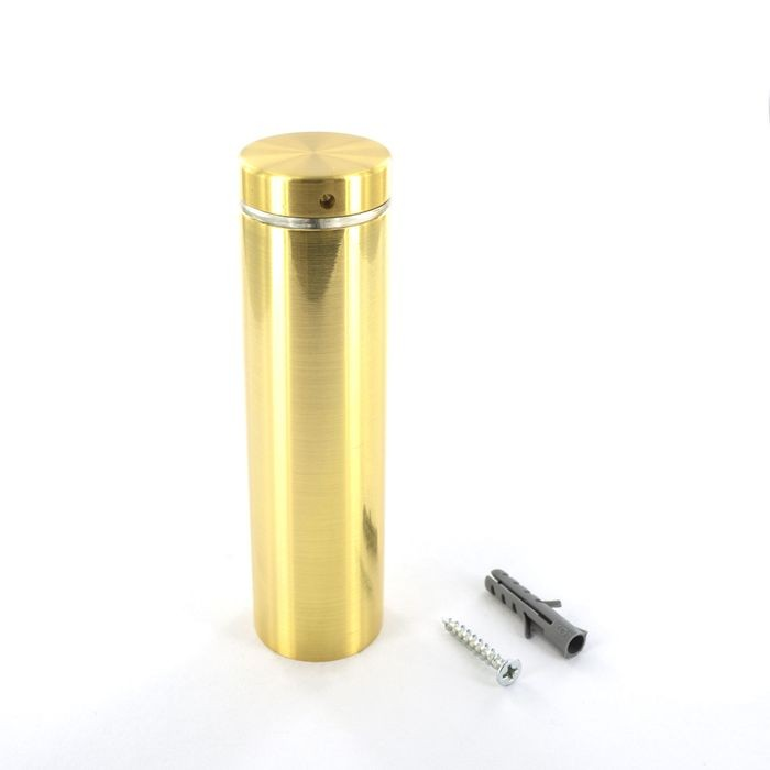 1-1/4in Dia x 4in Barrel Length | Bright Brass Finish | Premium Steel Series Secure Fasten Standoff