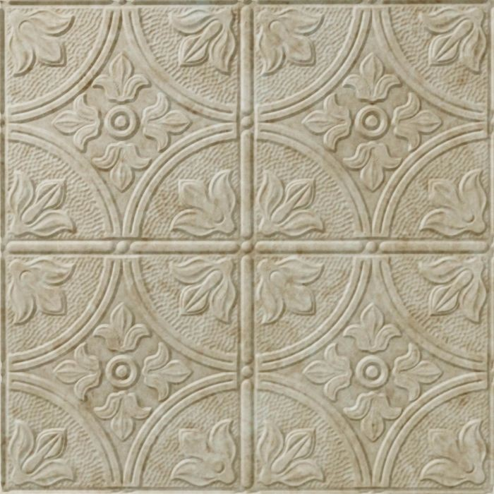 10' Wide x 4' Long Boston Pattern Travertine Finish Thermoplastic Flexlam Wall Panel