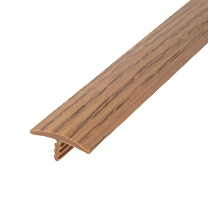 13/16in 866P Natural Oak Flexible Polyethylene | Center Barb Tee Moulding | 250ft Coil