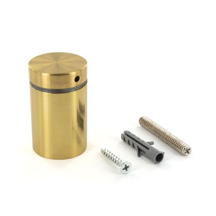 1-1/4in Dia x 1-1/2in Barrel Length | Bright Brass Finish | Premium Steel X Series Secure Fasten Standoff