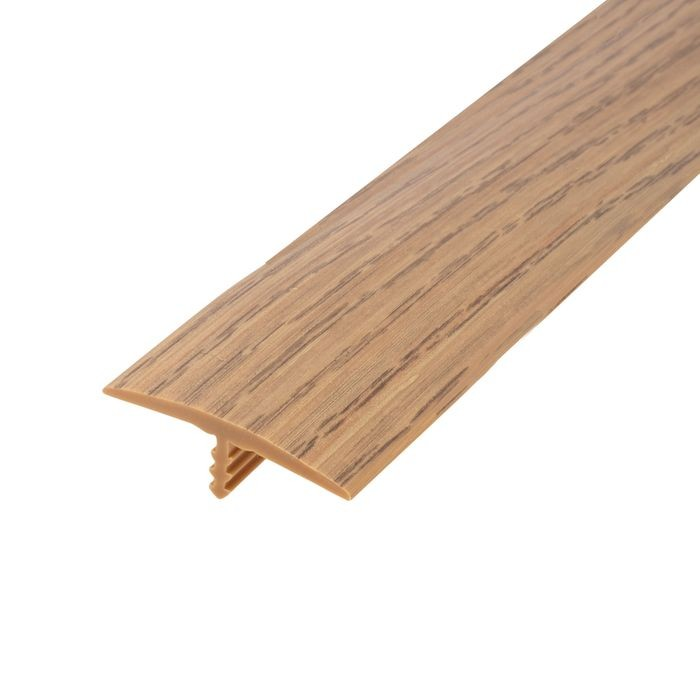 1-1/4in 866P Natural Oak Flexible Polyethylene | Center Barb Tee Moulding | 250ft Coil