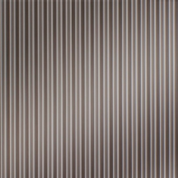 10' Wide x 4' Long Ridges Pattern Brushed Nickel Finish Thermoplastic Flexlam Wall Panel