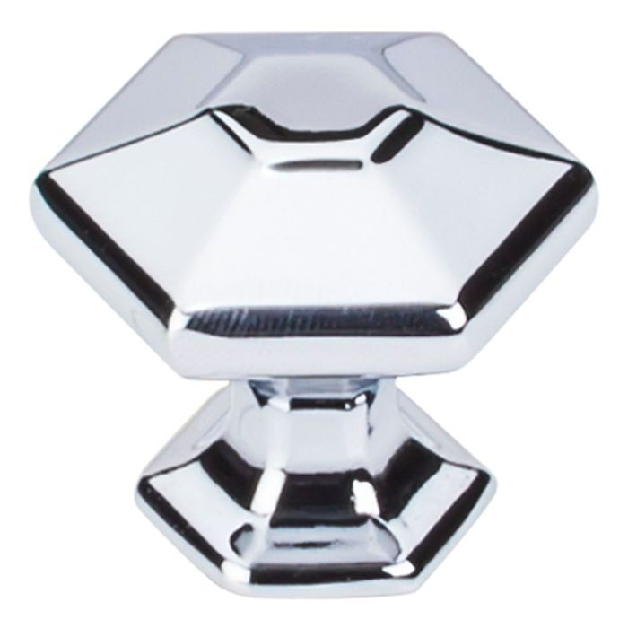 "Spectrum Knob 1 1/8"" Hexagon Polished Chrome"