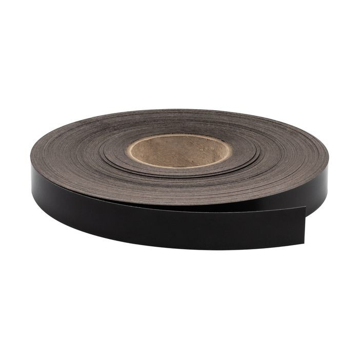 "1-1/8"" Wide Black Pre-Glued Iron On Tape 250' Coil"