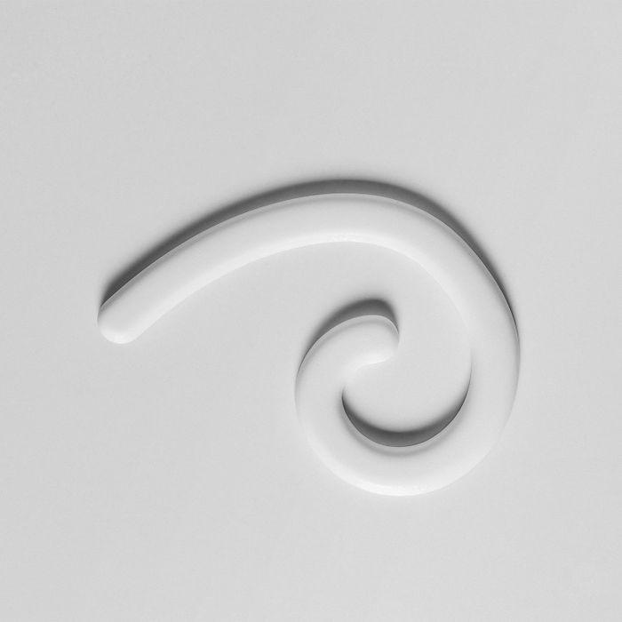 Orac Decor | High Density Polyurathane | 3D Decorative Element | Right Mini Curl Wall Element | Primed White | 7-7/8in H x 7-1/8in W