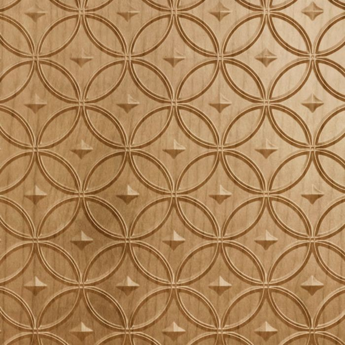 10' Wide x 4' Long Celestial Pattern Oregon Ash Finish Thermoplastic Flexlam Wall Panel