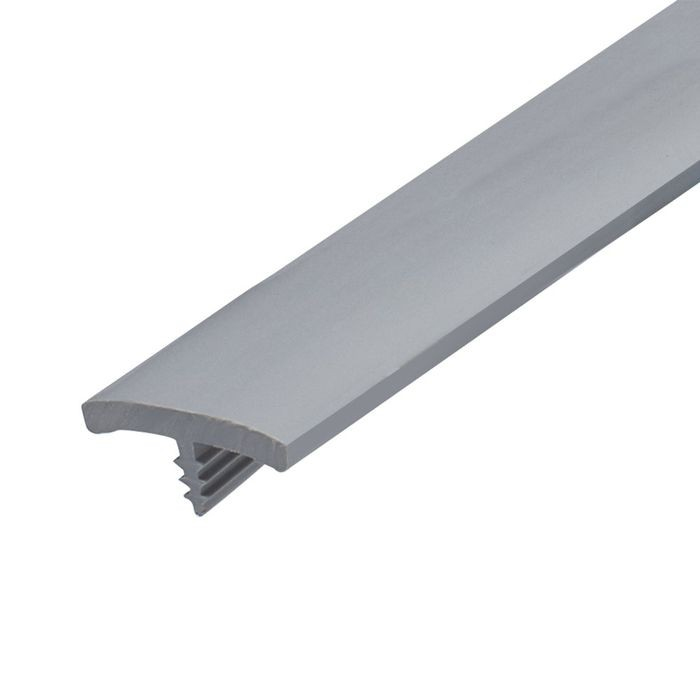 13/16in Dove Grey Flexible PVC | Flat Face Bumper Tee Moulding | 250ft Coil