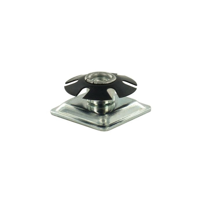 "1-1/4"" Square Heat Treated Carbon Steel Square Single Star Metal Insert"