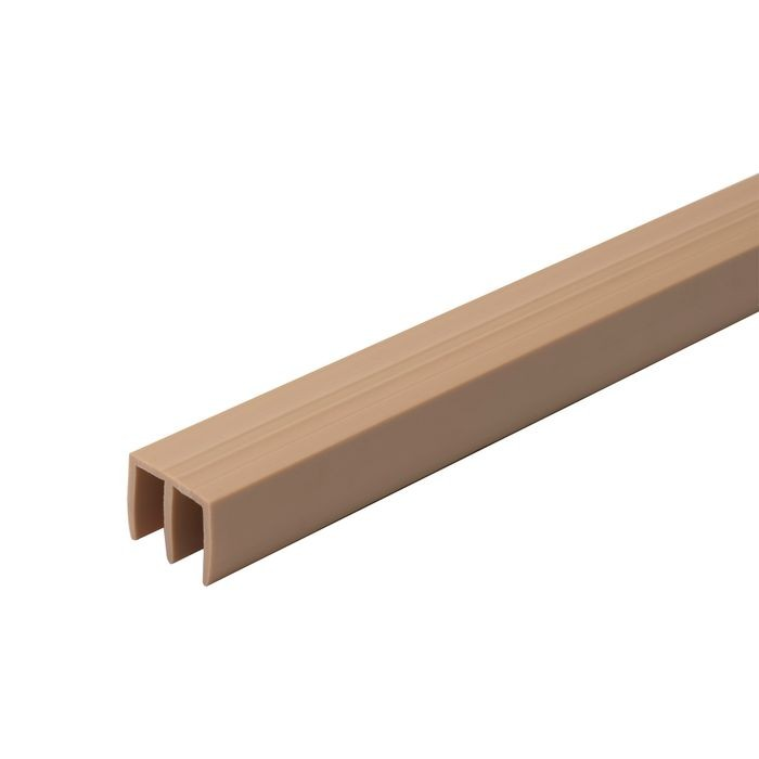 "1/4"" Wide Beige Upper Sliding Door Track 12' Length"