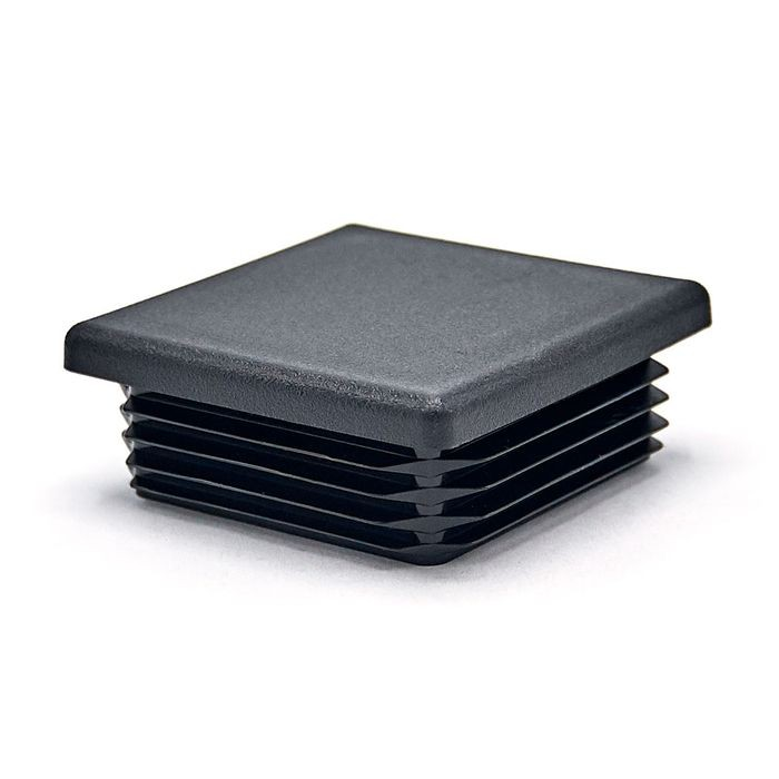 1-3/4in Sq | 14 - 18 Gauge | Black Matte Finish Textured Low Density Polyethylene