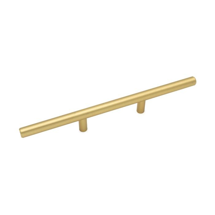 "Satin Brass Finish 8-3/4"" Long 3"" CC Steel Bar Pull"
