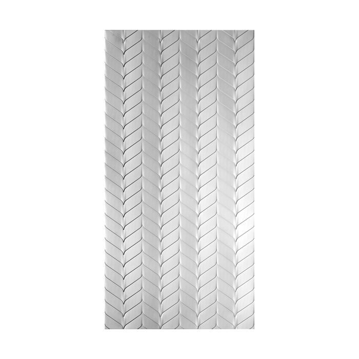 10' Wide x 4' Long Ariel Pattern Crosshatch Silver Finish Thermoplastic Flexlam Wall Panel
