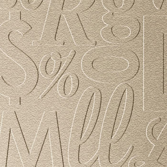 10' Wide x 4' Long Alphabet Soup Pattern Eccoflex Tan Finish Thermoplastic Flexlam Wall Panel