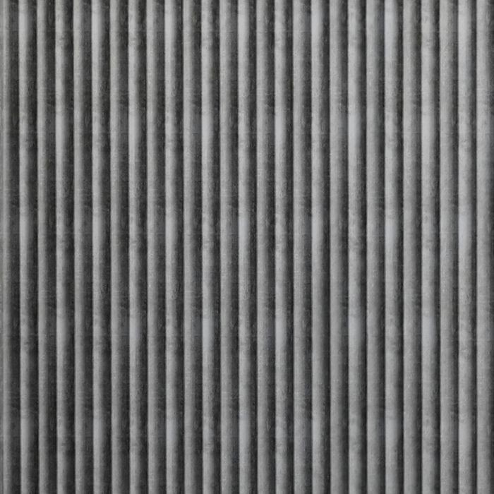 FlexLam 3D Wall Panel | 4ft W x 10ft H | Rib2 Pattern | Crosshatch Silver Finish