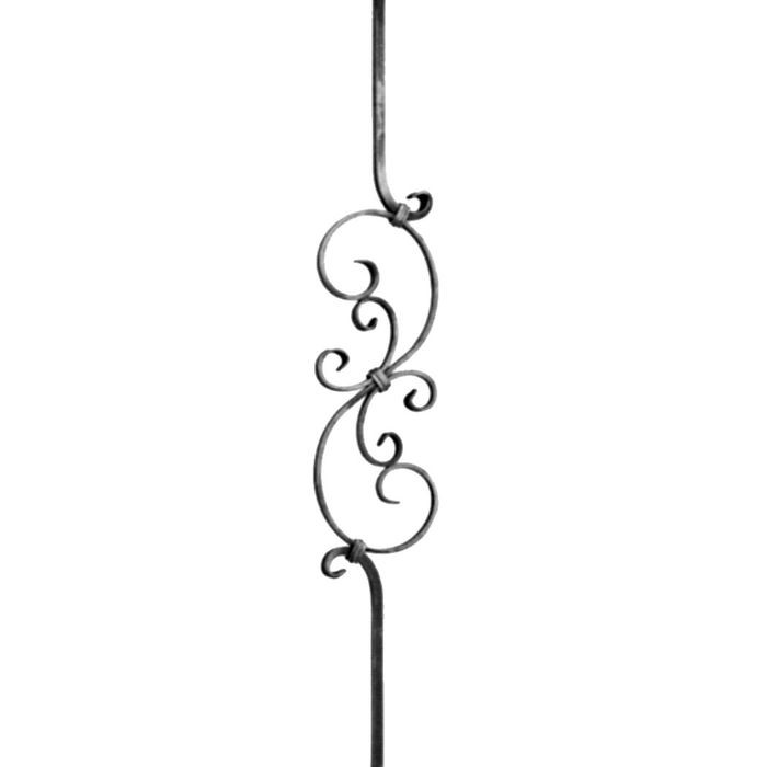 "1/2"" Square x 5 7/8"" W x 39 1/2"" H Curved Baluster"