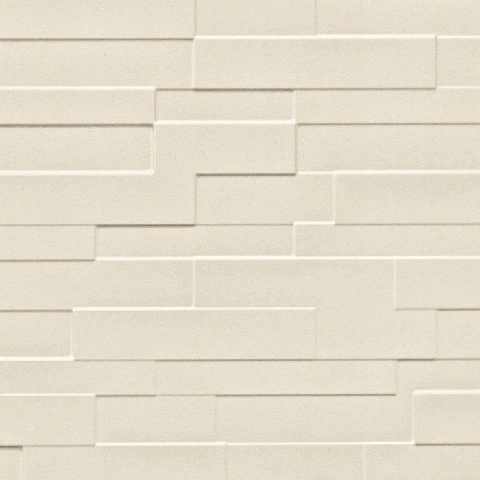 FlexLam 3D Wall Panel | 4ft W x 10ft H | Tetrus Pattern | Winter White Finish