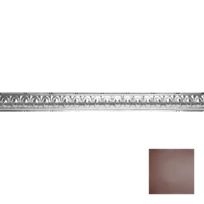 Tin Plated Stamped Steel Cornice | 3-1/2in H x 3-1/2in Proj | Classic Burgundy Finish | 4ft Long