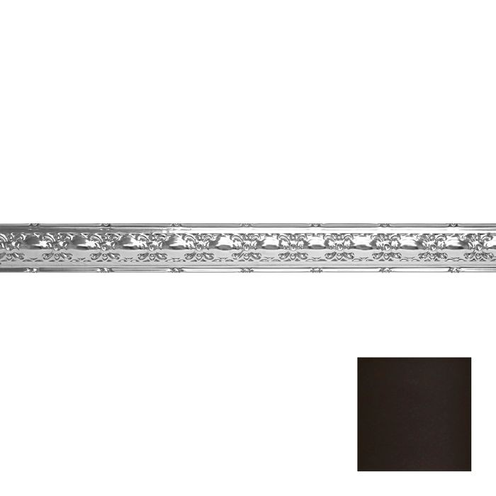 Tin Plated Stamped Steel Cornice | 4in H x4in Proj | Bronze Finish | 4ft Long