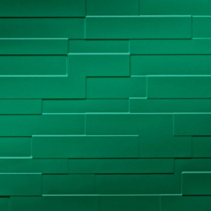 FlexLam 3D Wall Panel | 4ft W x 10ft H | Tetrus Pattern | Mirror Green Finish
