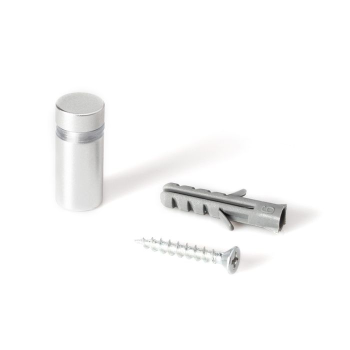 "1/2"" Diameter x 3/4"" Barrel Length Silver Aluminum Eco Series Easy Fasten Standoff"