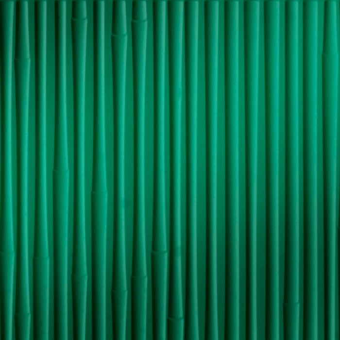 10' Wide x 4' Long Bamboo Pattern Mirror Green Finish Thermoplastic Flexlam Wall Panel
