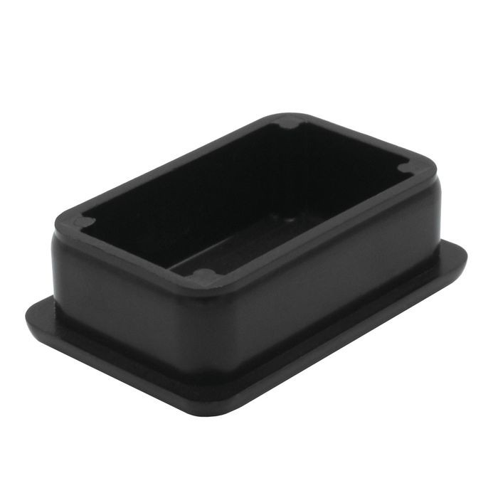 1in x 1-1/2in Rectangular | 15 Gauge Black Matte Finish ABS | Plastic Inside End Cap for Tubing