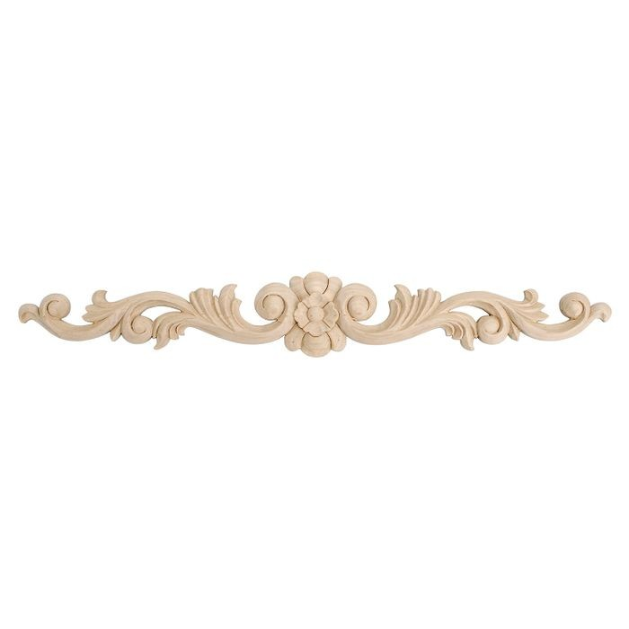 12in W x 1-3/4in H | Hand Carved | Solid North American Cherry Applique | RWC128 Series