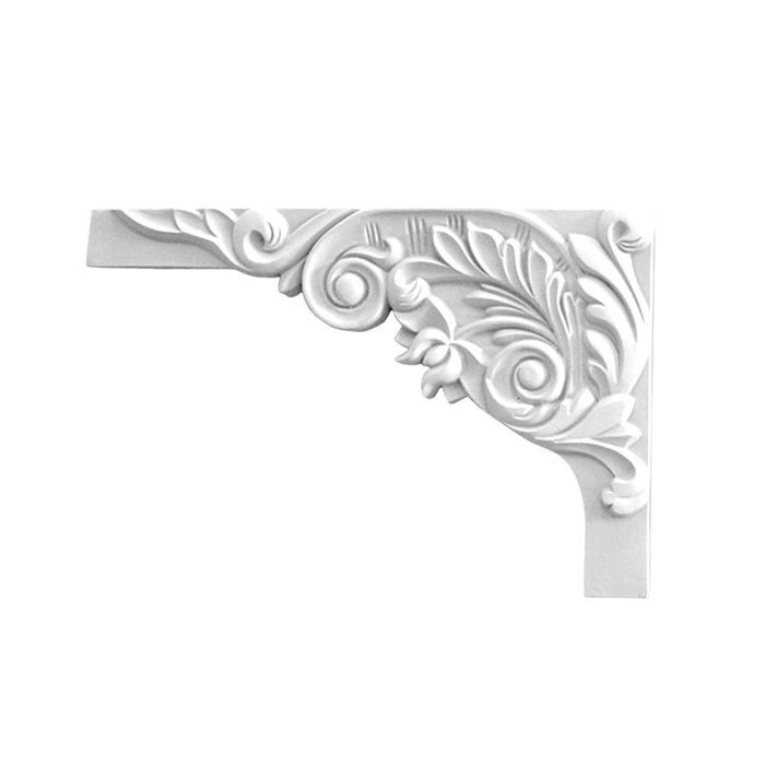 11in W x 7in H | Primed White | Left Stair Bracket | Style DEM-677L